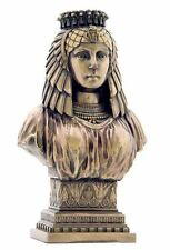 Egyptian Queen Cleopatra Bust Bronze Finish Statue #WU75546A4