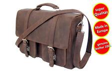 Aktentasche Schultasche Lehrertasche Umhängetasche Leder Vintage Grain Leder