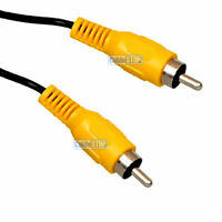 10m YELLOW RCA PHONO COMPOSITE MALE REAR VIEW CAR VIDEO CAMERA CABLE LEAD