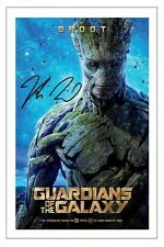 VIN DIESEL GUARDIANS OF THE GALAXY SIGNED AUTOGRAPH PHOTO PRINT GROOT