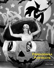 ESTHER RALSTON 8X10 Lab Photo 1920's Silent JACK O LANTERN Halloween Portrait