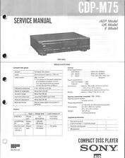 Sony Original Service Manual für CDP-M 75