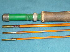 """VINTAGE BAMBOO FLY FISHING ROD WITH 2 ENDS 1 EYELET missing 100-1/2"""" LONG"""