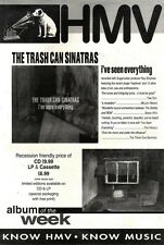 """8/5/93PGN02 ADVERT 15X11"""" THE TRACH CAN SINATRAS : I'VE SEEN EVERYTHING"""