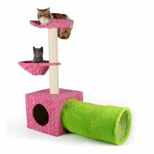 "Cat Scratcher 39""*32""*14"" Post Towe Tunnel Condo Furniture Play Station House"