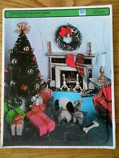 Christmas 4424 Whitman Tree Fireplace & Packages Vintage 1969 Frame Tray Puzzle