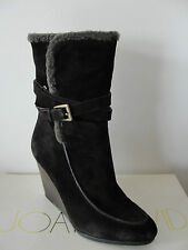 NIB $300 Joan & David Florita Suede Ankle Boots Dark Brown 9M