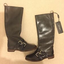 Dolce & Gabbana Leather Boots / Size 35.5 / Brand New