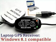 GPS Receiver + Antenna 4 Windows 8.x 10 win7 xp Laptop PC, Android Tablet USB E8