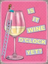 Vino O'Clock? Rosa y Girly Retro Humor Divertido Cocina Original Imán De Nevera