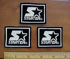 LOT OF THREE (3) STARTER NFL PROLINE SPORTS APPAREL MINI SEW-ON LOGO PATCHES