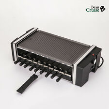 3 in 1 Electric Reversible Kebab Grill Non-Stick Griddle Hot Plate BBQ BCQ-1200
