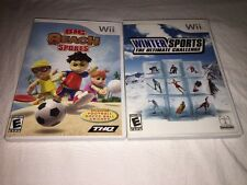 2 Pack of Wii Sports: Big Beach Sports & Winter Sports Ultimate Challenge-TESTED