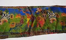 Fun Abstract Animal Print Silk Scarf to Enhance Your Wardrobe Vivid Colors