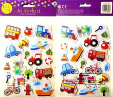 A5 Stickers 40 in Pack Transport Car Plane Boat Bike Bus Train Yacht Craft Time