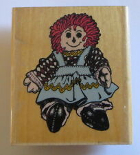 Franny Rag Doll Rubber Stamp Raggedy Buttons Yarn Hair Retired J372 Girl