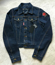 NWT authentic DSQUARED2 Canada's Maple Leaf JEAN JACKET sz 48 EUR | 38 US | M