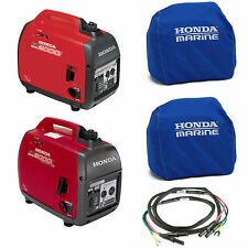 Honda EU2000i 2000W, EU2000iC Companion Generator, Parallel Cord, (2) Blue Cover