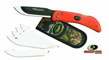 NEW Outdoor Edge RB-20 Razor Blaze Knife with 6-Blades, Orange