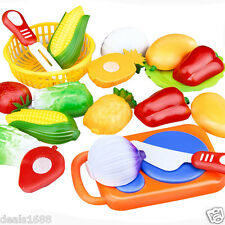 12pc/set Cutting Fruit Vegetable Pretend Role Play Children Kid Educational Toys