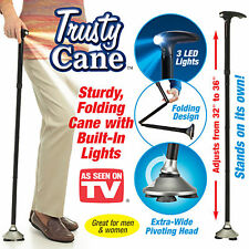Ultra-light Handle Dependable Walking Magic Foldable Trusty Cane