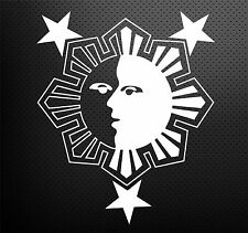Philippine Star and Sun Face Stickers Car Vinyl Decals