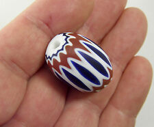 29mm X 20.5mm CHEVRON Venetian Cane Trade Bead 6 Layer #801