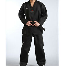 WTF Approved Adult Men's Master Taekwondo Black Striped Uniforms Dan Dobok