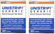 UniStrip 100 Test Strips Use with OneTouch Ultra II, Mini, Smart Meter 10 /2018