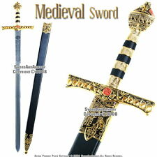 "46"" Richard the Lion Heart  Medieval King Knight Crusader Sword with Scabbard"