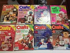 Lot 8 Vintage America's Favorite Crafts Magazine1982-87 Knitting Crochet Pattern