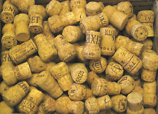 Lot of 10 - Natural Used Real Champagne Wine Corks for Crafts  FREE Shipping USA