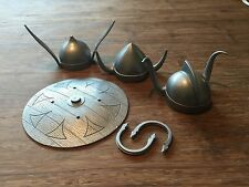 Marx,Eric the Viking, Thor, Oden, 1/6 Scale Johnny West Helmets And Shield.