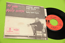 "MARY HOPKIN 7"" TURN TURN TURN ORIG FRANCE 1968 NM !!!!!!! WITH STIKER !!"