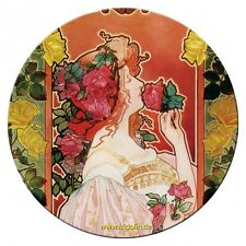 Taschenspiegel Spiegel, Livemont, Parfumerie Rose