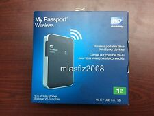 WD 1TB My Passport WiFi Wireless Mobile Hard Drive NEW