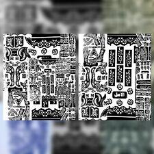 3 Stück XXL Henna Schablone Vorlage Tattoo Muster Hände Arme Füss Rücke Airbrus