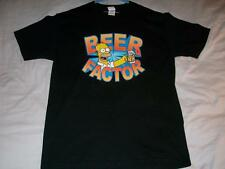 Homer Simpsons Beer Factor Black Alstyle Apparel T-shirt Mens Large used