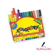 15 Colorstix Colour Sketch Felt Tip Pens Kids Crafts Washable +* Free Neon Pen*