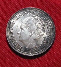 Curacao 1/4 Gulden 1947 (u) UNC/Toned Details! KM#44 Silver Coin.