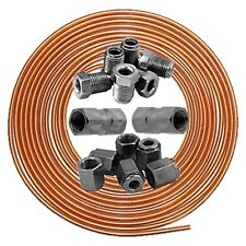 "Copper Brake Pipe 3/16"" Line 25ft Joiner Male Female 3/8"" Nuts Ends Tubing Kit"