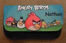 Personalizzati Angry Birds Nero Astuccio-includono il nome Ottimo Regalo Per Ragazzi & Ragazze