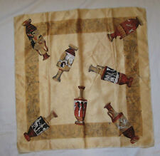 Beau Foulard 100% soie  70cm x 70cm  vintage Scarf