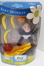 "NEW OUR GENERATION AMERICAN 18"" DOLL BANANA ORANGE COCONUT MONKEY FOOD LEA JESS"