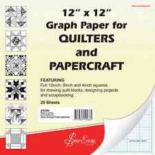 """Sew Easy Quilters Graph Paper 12"""" x 12"""" inches"""