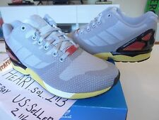 NEW ADIDAS ZX FLUX WEAVE GRAY-RED AF6346 SZ 9.5 JS BOOST tubular NMD SUPER YEEZY