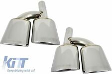 Mercedes AMG Exhaust Muffler Tips Pipe S-class E-class W221 W211 S63 E63 CLS