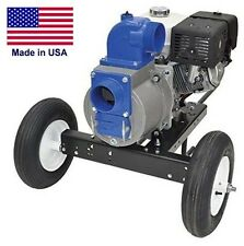 "TRASH PUMP - 4"" Ports - 32,400 GPH - 11 Hp Hatz Diesel & Dolly Kit - Industrial"