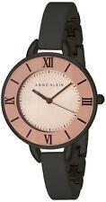Anne Klein Women's Rose Dial Black Tone Metal Bangle Bracelet Watch AK/2269RGGY