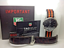 Tag Heuer Carrera Twin-Time Automatic GMT Men's Black Dial Steel WV2115